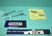 STANLEY Zinc plated Hook & eye. 2 pack sets. 12-0028